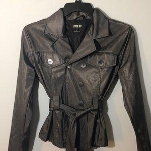 Trench coat type rain jacket